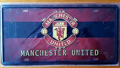 Manchester United FC Embossed Metal Tin Sign Bar Shed & Man Cave Signs AU Seller