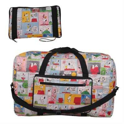 Snoopy Peanuts Comics Travel Big Foldable Waterproof Luggage Bag Carry-On Bag