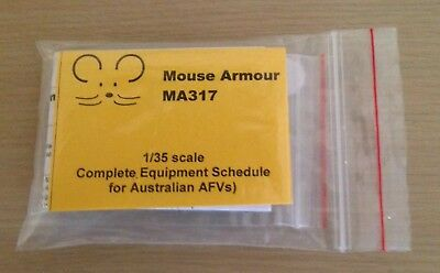Mouse Armour MA317 1/35 scale Complete Equipment Schedule for Australian AFVs