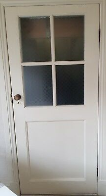 Door with federation style glass 1965 h x 862 w x 41 d