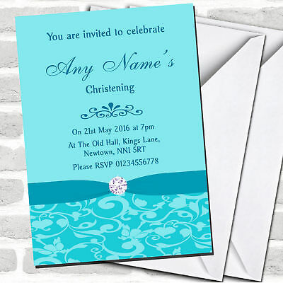 Personalised Christening invitations CLASSIC GREEN PHOTOS  FREE ENVELOPES /& DRAF