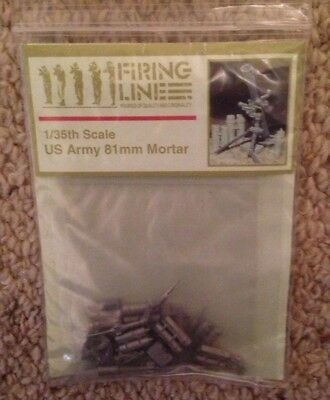 Firing line 1/35 Scale US Army 81mm Mortar