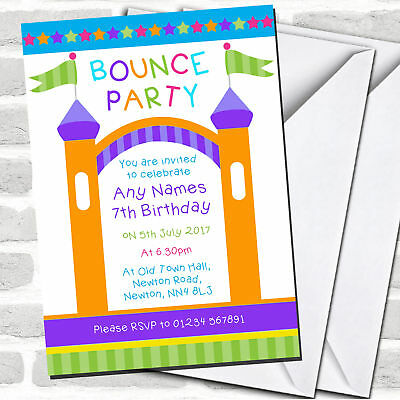 30 bounce house birthday invitations with envelopes kids jumping