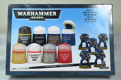 Citadel Colour Paint Starter Set + Brush Previous Edition OoP Games Workshop
