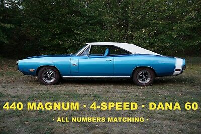 1970 Dodge Charger R/T 4 Speed Dana 60 Numbers Matching