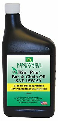 Bar and Chain Lubricant, 1 qt. Jug, Semi-Synthetic Chemical Base, Yellow Color