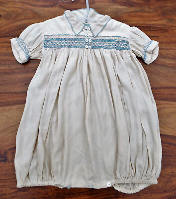 Vintage Baby Smocked Silk Rompers