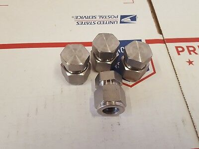 Swagelok New Stainless Steel Cap 1/2 in SS-810-C lot of 4