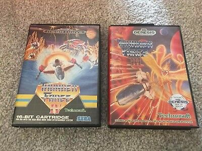 Thunderforce 3-4 game Cases Only Sega Megadrive