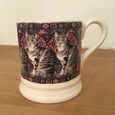 Emma Bridgewater Tabby Cat - Cats On Rugs  New And Perfect Free Post Uk