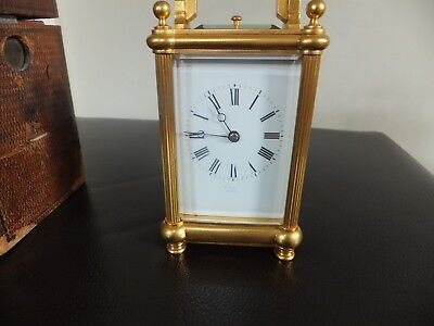 Wonderful ormolu Repeater carriage clock, Margaine ,Boxed , key, Mint .