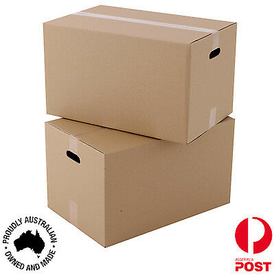 20 x Moving Cardboard Packing Boxes 70Litres Cartons With Handles-Same day Post
