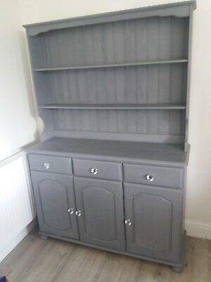 Up-cycled Country Style Welsh Dresser gray