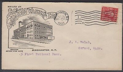 1905 The 1900 Washer Co Advertising Cover - Binghamton, NY to Oxford, Ohio