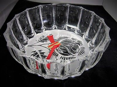 Elisabeth Hutte Genuine Lead Crystal German Bowl,1960s, 21cm,1 Kilo: New