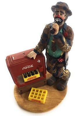 Coca Cola Emmett Kelly Jr AT THE RED COOLER Clown Figurine Numbered Ltd Edition