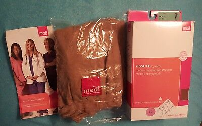 NEW ~ MEDIVEN ASSURE 14303  ~ Maternity Compression Pantyhose 20-30mmHg ~ Beige