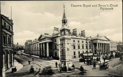 Ak Plymouth Devon England, Theatre Royal and Derry's Clock, Wilts.... - 1937856