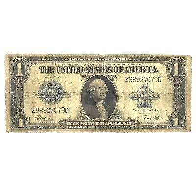 * Series 1923 $1 LARGE SIZE U.S. Silver Certificate - Horse Blanket Note Lot# 8