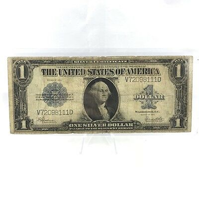 * Series 1923 $1 LARGE SIZE U.S. Silver Certificate - Horse Blanket Note Lot# 7