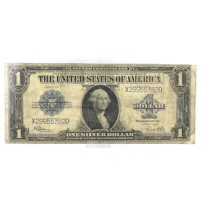 * Series 1923 $1 LARGE SIZE U.S. Silver Certificate - Horse Blanket Note Lot# 6