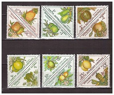 s22717) GABON 1962  MNH** Postage Due Tax 12 Fruits