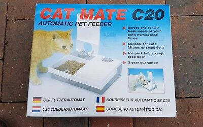 Cat Mate Automatic Feeder C20 For Cats Kittens & Small Dogs
