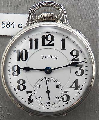 Illinois Sangamo Special Railroad Pocket Watch, 23J, Original Case