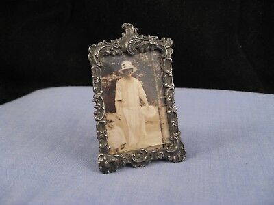 Lovely Antique Victorian Miniature Desktop Photo Picture Frame Stage Prop