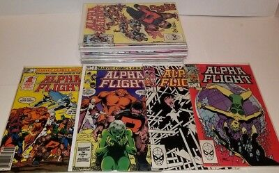Alpha Flight #1-28 Complete John Byrne Set X-Men 1983 Series Nm Vf F