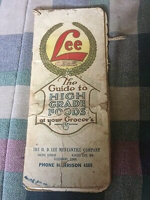 RARE H D Lee Grocery Want Book Salina Ks K C  Mo. Great Lee Advertising As-Is