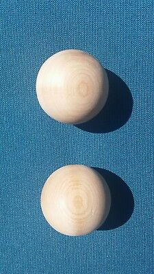 2-Pallino Target Balls-Official Size Solid Wood Bocce Pallino Ball-Made In Italy