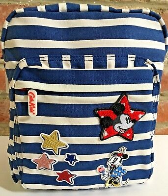 CATH KIDSTON Disney Breton Stripe Badges Medium Rucksack Backpack Bag BNWT