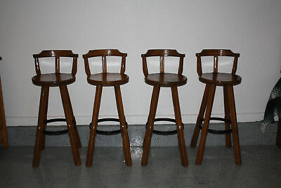 Ranch Oak  4 bar stools