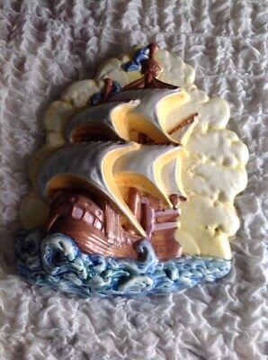 Beswick Galleon Wall Plaque - Model No 263 - In Excellent Condition