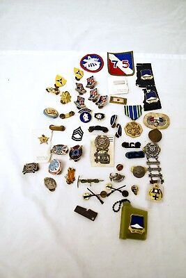 Vintage Lot Of Military Medals - Pins - Patches