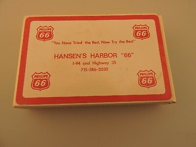Vintage Phillips 66 Hansen's Harbor 66  playing Cards Complete with box