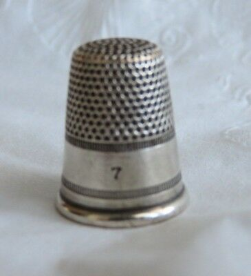 Nice Antique Sterling Silver Thimble Size 7