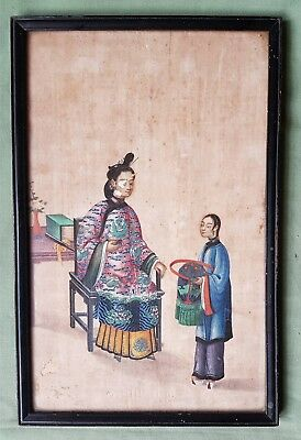 Beautifully painted antique Chinese painting on Silk