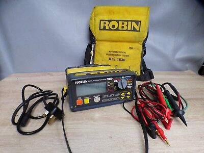 A Good Working Robin Digital Multifunction Tester Kts 1630 With Leads & Bag