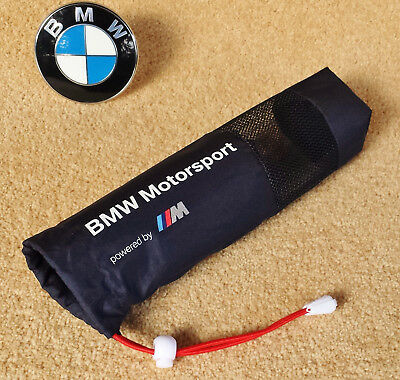 25cm x 8cm Genuine BMW Motorsport Bag Holder Pocket Telescopic Folding Umbrella