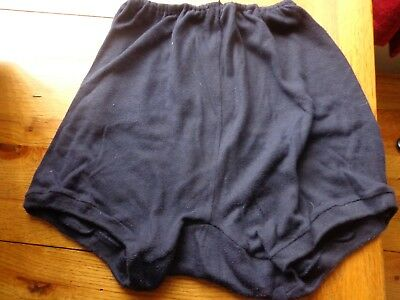 Vintage 1960's  Holstar Navy Blue Regulation School Knickers In A Large Size 20