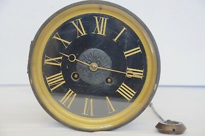 Antique/Vintage French clock movement with back and pendulum