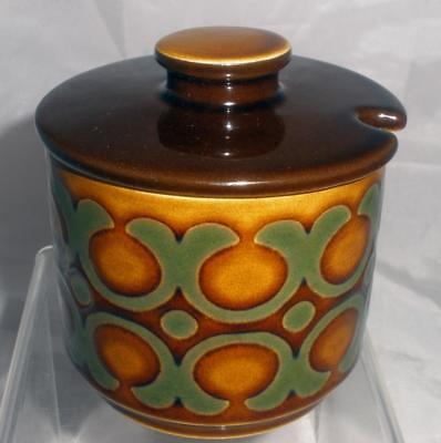 Hornsea Pottery Bronte Pattern Sugar Bowl or Preserve Pot with Lid
