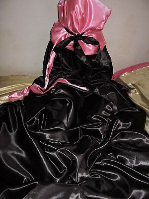 Glanz Satin Sissy Boy Schlafsack Negligee Nylon double sleeping bag extra lang