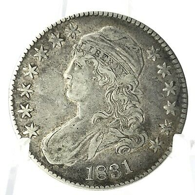 * 1831 50C Capped Bust Half Dollar - Fifty Cent Silver U.S. Coin