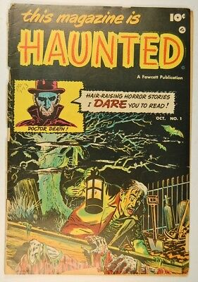 This Magazine Is Haunted #1 (Oct 1951, Fawcett) Poor condition, no back cover
