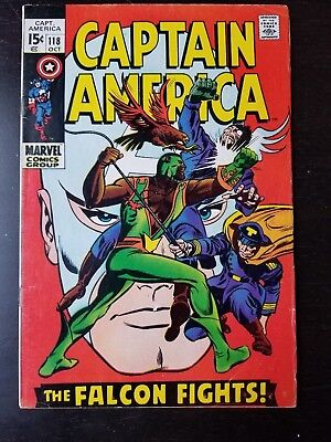 Captain America #118 (Oct 1969, Marvel) 2nd App The Falcon
