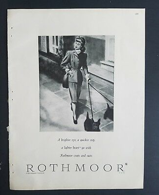 1947 ROTHMOOR women's coats suits fashion Scottish Terrier Scottie dog ad