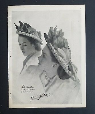 1947 TITCHE-GOETTINGER  Sally Victor big little Filly women's hats vintage ad